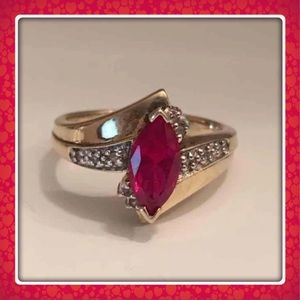 Jewelry - ❤️Ruby Ring .0925 Size 5❤️